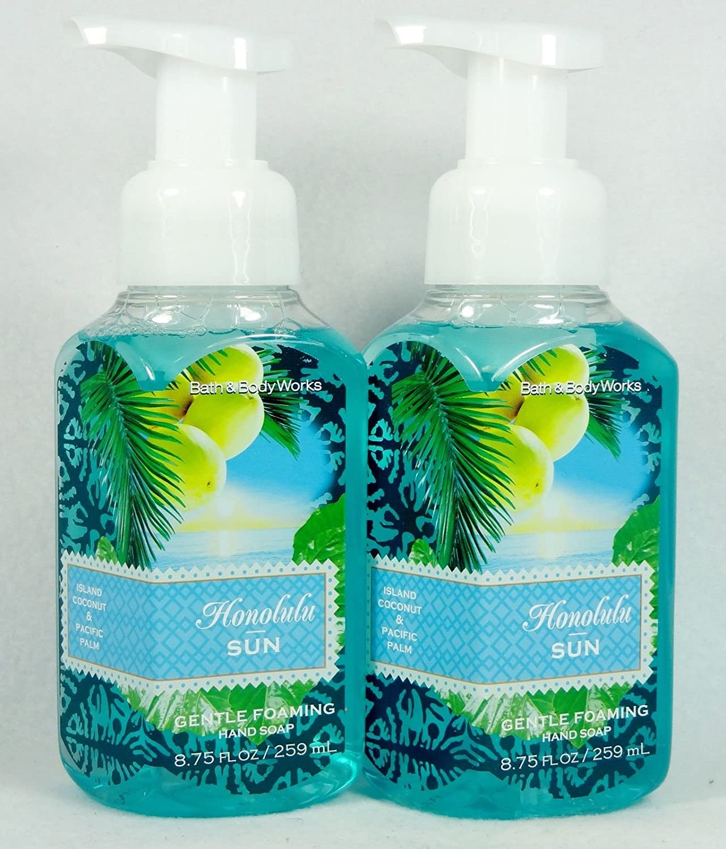 Amazon.com : 2 Bath Body Works Honolulu SUN Gentle Foaming Hand Soap ...