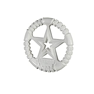 HERO Made in USA Soft Rubber Ring Dog Toy, Large, White