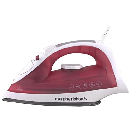 Buy Morphy Richards Glide 1250 Watt Steam Iron White Red Online At Low Prices In India Amazon In You'll receive email and feed alerts when new items arrive. morphy richards glide 1250 watt steam iron white red