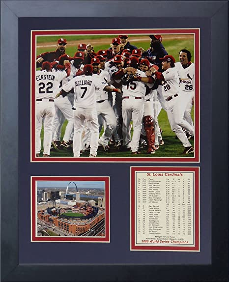 Louis Cardinals St 06 World Series Parade 16 x 20 Framed Photo Collage by Legends Never Die Inc.
