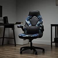 OFM ESS Collection Racing Style Bonded Leather Gaming Chair, Arctic Camo