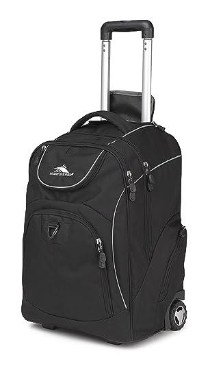 High Sierra 53992 1050 Powerglide Wheeled Backpack Black