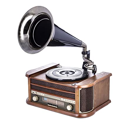 Camry CR-1160 - Tocadiscos Vintage, Radio FM, CD, USB ...