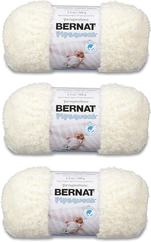 3-Pack Bernat Pipsqueak Yarn Bulk Buy Whitey White 162059-59005