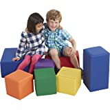 ECR4Kids Softzone Foam Big Building Blocks, Soft Play Set for Kids, Primary (7-Piece)