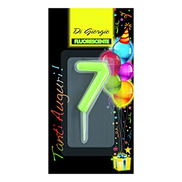 Cereria de Giorgio 5426 _ 67 vela de cumpleaños número 7 ...