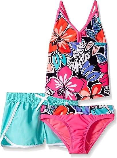 16 ZeroXposur Girls Hula Haku Tankini Two Piece Swimsuit with Short