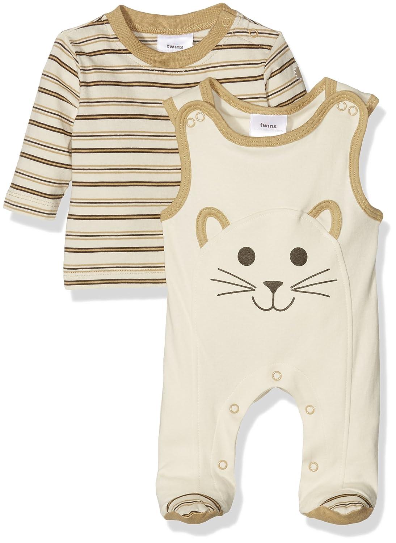 Twins Conjunto de Ropa para Beb/é con Pelele y Camiseta Manga Larga