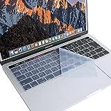 Mosiso キーボードカバー 防水 防塵カバー 保護 キースキン 清潔易い 日本語 JIS配列 MacBook Pro Touch Bar/Touch ID搭載 13 / 15 インチ 最新 2019 2018 2017 2016 (モデル: A1989, A1990, A1706, A1707) 用(クリア)