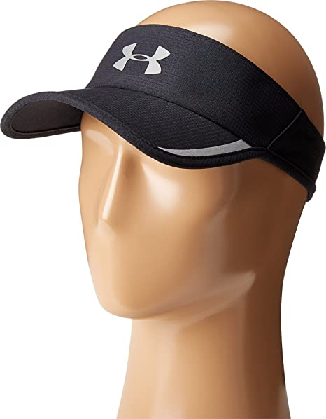 ef5ce495075 Amazon.com  Under Armour Men s UA Shadow AV Visor Black Silver Reflective  Hat  Sports   Outdoors