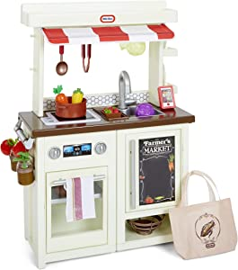 Little Tikes First Market Kitchen Pretend Play Kitchen w/ Over 20 Accessories
