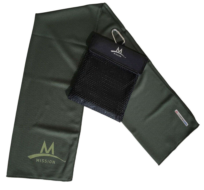 Mission Outdoor Towel Toalla con mosquetón refrigeración Toalla sudor Endura Cool: Amazon.es: Deportes y aire libre
