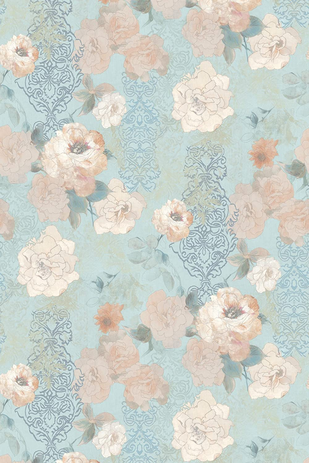 Wallpaper Mural Blue Floral Wallpaper Pink Floral Wallpaper Rose