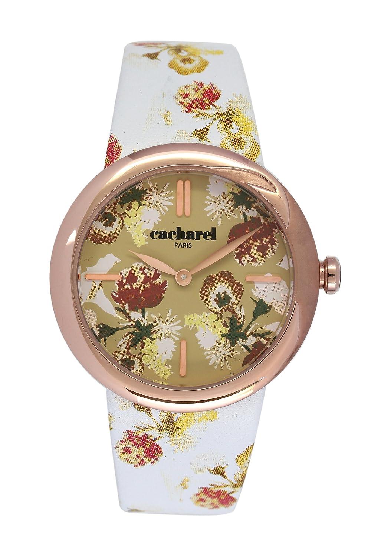Cacharel Damen-Armbanduhr Analog Quarz Leder CLD 005-2TB