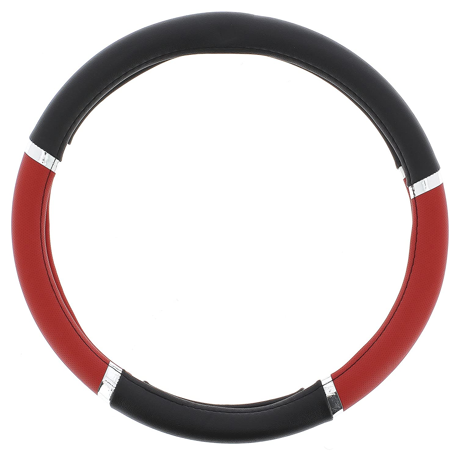 Sumex Speed PVC Steering Wheel Cover Red// Black