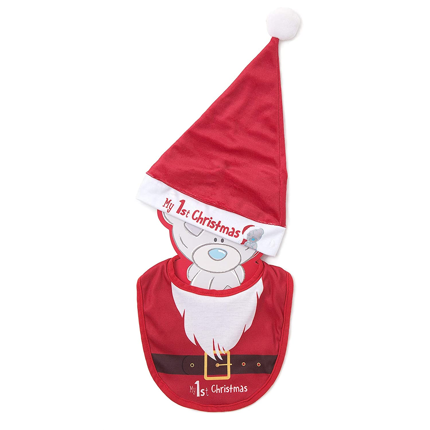 Me To You Tiny Tatty Teddy Babys First Christmas Santa Hat and Bib Gift Set