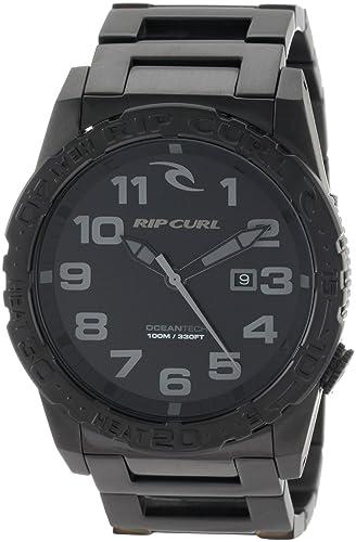 Rip Curl Men s A2467-MID Cortez Two XL Midnight SSS Stainless-Steel Sport Bezel Watch