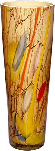 JOZEFINA ATELIER Tower Vase Marble Amber Murina, Large