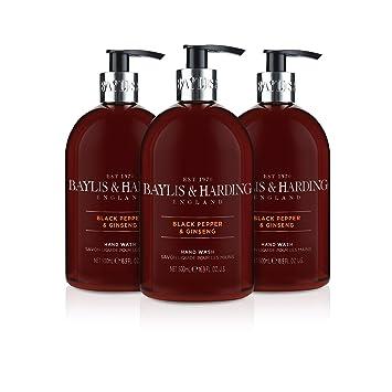 Afholte Baylis & Harding Hand Wash, Black Pepper and Ginseng, 500 ml, Pack FZ-66
