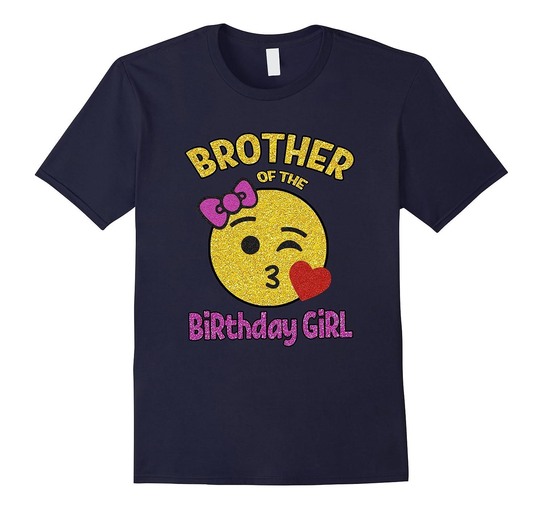 Brother of the Birthday Girl Emoji Pink Shirt Kiss Heart Tee-Vaci
