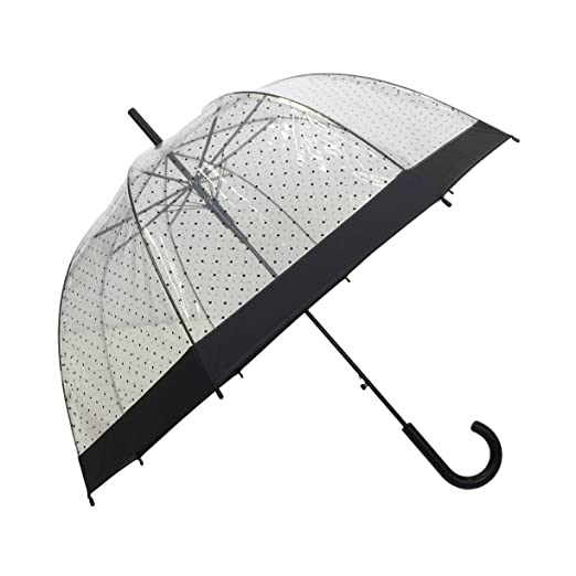 Amazon.com : SMATI Stick Birdcage Clear Umbrella Dome Transparent - Automatic Open (Lady Woman) : Sports & Outdoors