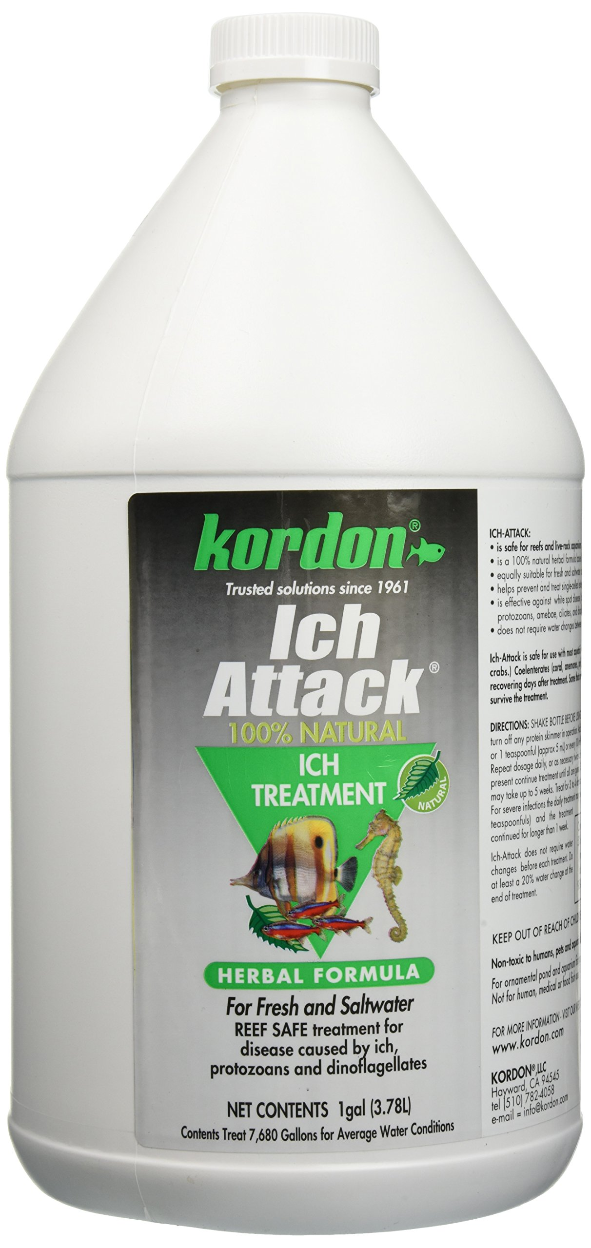 KORDON  #39462  Ich Attack for Aquarium, 1-Gallon ONLY 1