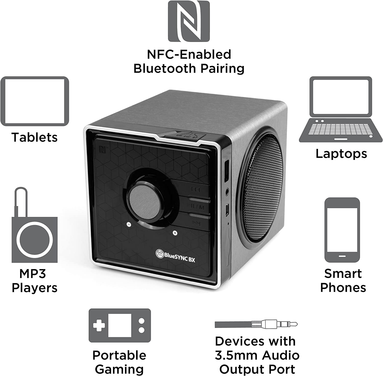 GOgroove BlueSYNC BXL Portable Bluetooth Speaker with NFC Technology