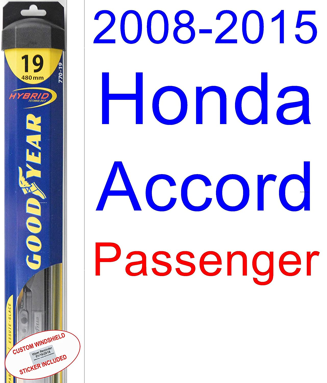 2008 2015 honda accord replacement wiper blade set kit