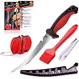 Dacodget - Juego de cuchillos de filete de 16,5 cm   Cuchillo multifuncional para deshuesar y desescalar pescado de…