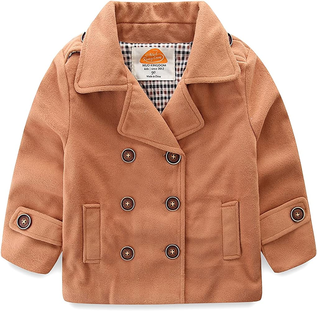 size 7 rational construction special discount of Baby Boy Bomber Jacket Plain Faux Wool Coat