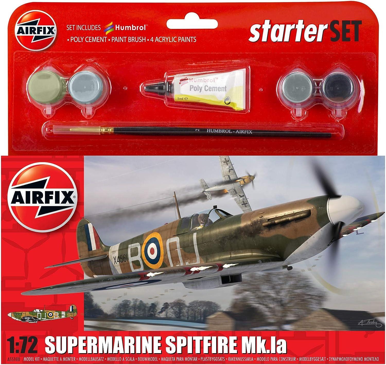 1:72 Scale Airfix Supermarine Spitfire MkIa Starter Gift Set