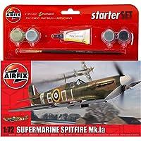 Airfix - Kit pequeño con Pinturas, avión Supermarine