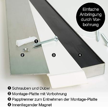 Moritz & Moritz Barra Magnetica para Cuchillos 40 cm - Cuchillero Magnetico - Universal - Acero Inoxidable Cuchillero Magnetico - para Herramientas Otros Utensilios y Organizacion