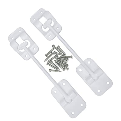 """Camp'N T-Style 6"""" Door Latch-Holder-Catch with Hardware for RV, Trailer, Camper, Motor Home, Cargo Trailer - OEM Replacement (White 2-Piece): Automotive"""