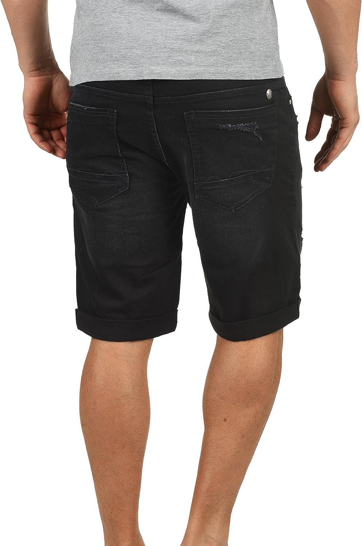Blend Grilitsch Herren Jeans Shorts Kurze Denim Hose im Destroyed-Optik aus Stretch-Material Slim Fit