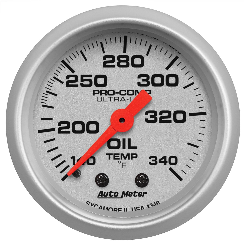 Auto Meter 4346 Ultra-Lite Mechanical Oil Tank Temperature Gauge