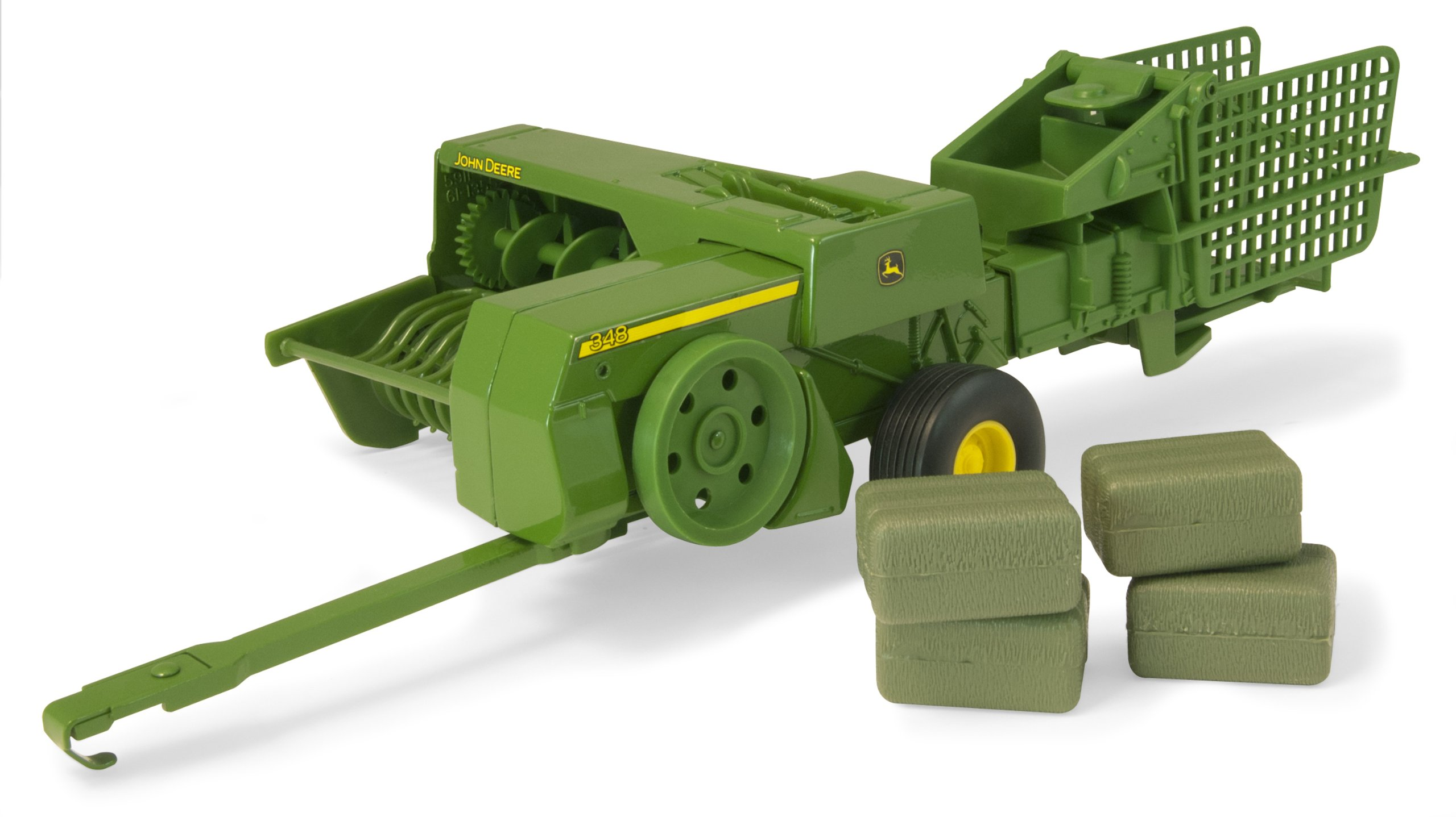 ERTL John Deere 348 Square Baler And 4 Bales (1:16 Scale)