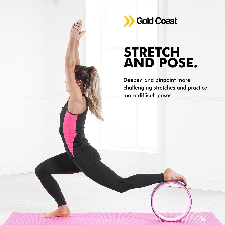 Gold Coast Premium Yoga Ejercicio rueda para estiramiento ...