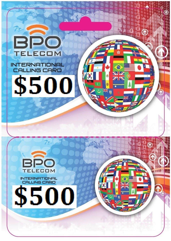 $500 Prepaid Local and International Calling Card for Cheap Calls Worldwide! No Hidden Fees!
