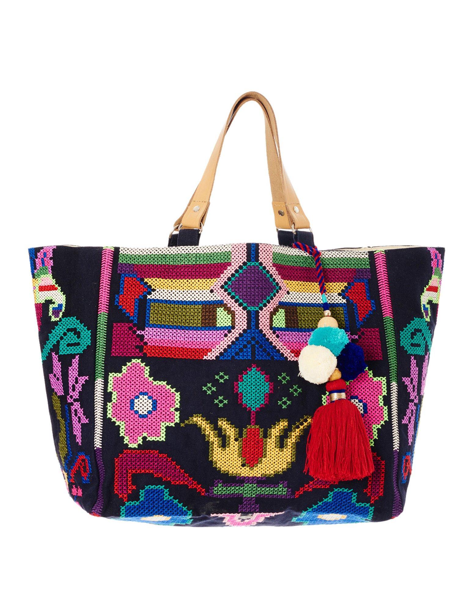 Star Mela Women's Vita Women's Navy Tote Beach Bag 100% Cotton