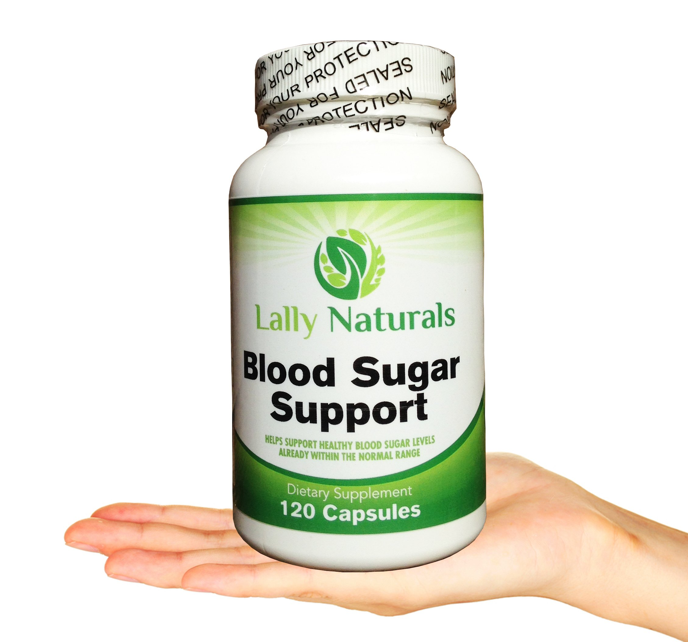 Blood Sugar Support (120 Capsules) - Promotes blood glucose control & healthy blood sugar levels ★ Helps Weight Loss & Reduces Carb Absorption ★ 20 Synergistic Natural herbs with Cinnamon & Chromium