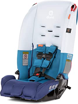 Blue Diono Radian 3 R All-In-One Convertible Car Seat for Children and Baby to 100 Pounds