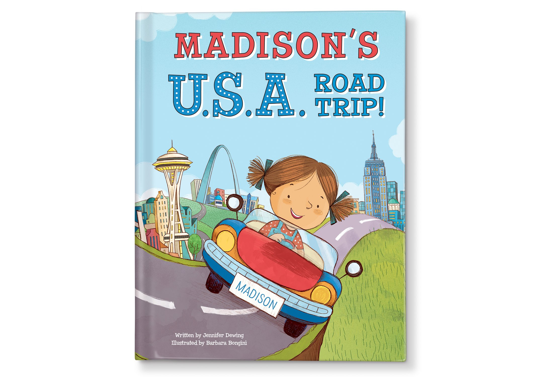 Road Trip USA States Map Personalized Name Book