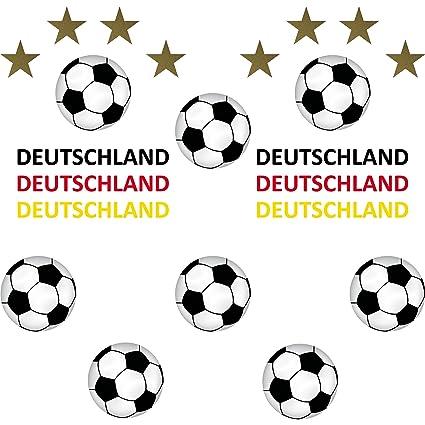 Set de 22 pegatinas para el coche; con diseño de balones de fútbol ...
