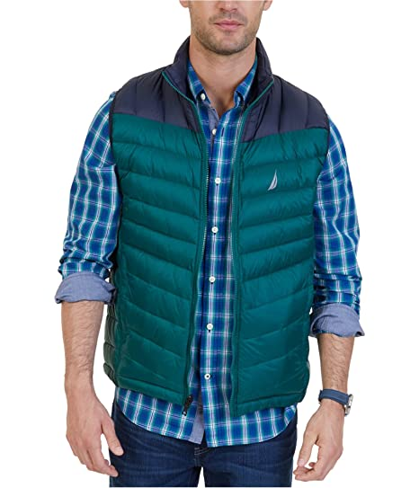 Nautica Mens Light Weight Quilted Vest Sports & Outdoors Outdoor ...