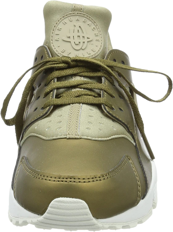 Nike Damen Air Huarache Run PRM Txt Gymnastikschuhe, beige Grün (Khaki/Mtlc Field/Summit White)