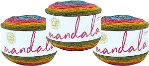 (3 Pack) Lion Brand Yarn 525-204 Mandala Yarn, Chimera