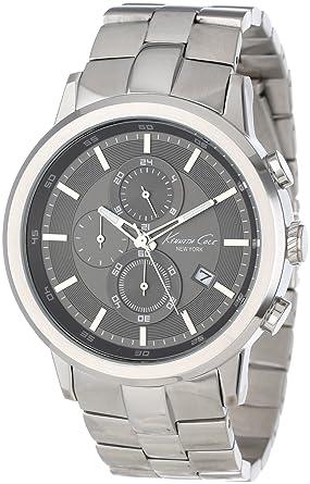 094685345 Kenneth Cole New York Men's KC9225 Dress Sport Triple Black Quartz Link  Bracelet Watch