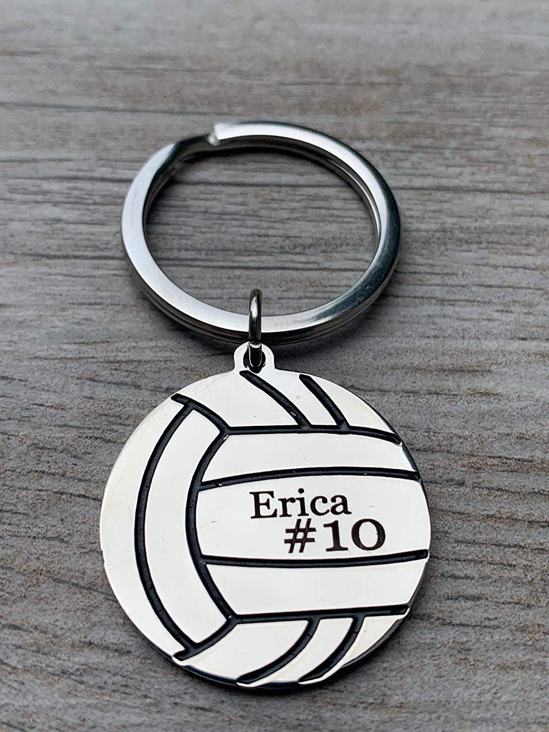 Volleyball Team Player Personalized Key Chain Engraved