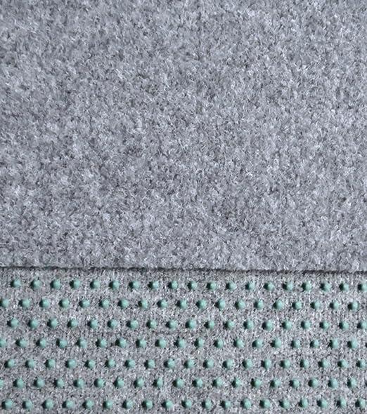 in den Breiten 100-133-150-200-250-400 cm lieferbar mit Drainagenoppen Kunstrasen Rasenteppich 100cm Breite Farbe hell-grau angenehme weiche Lauffl/äche 300 x 100 cm